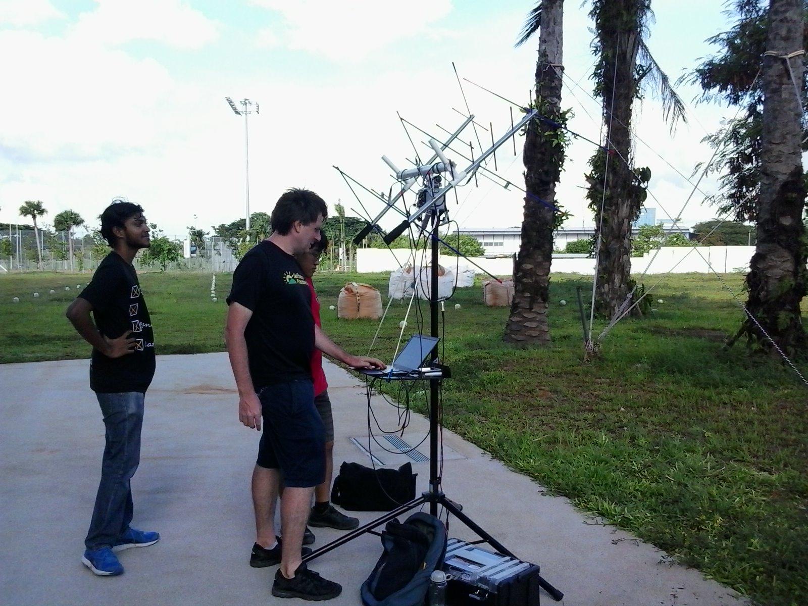 First successful satellite tracker test